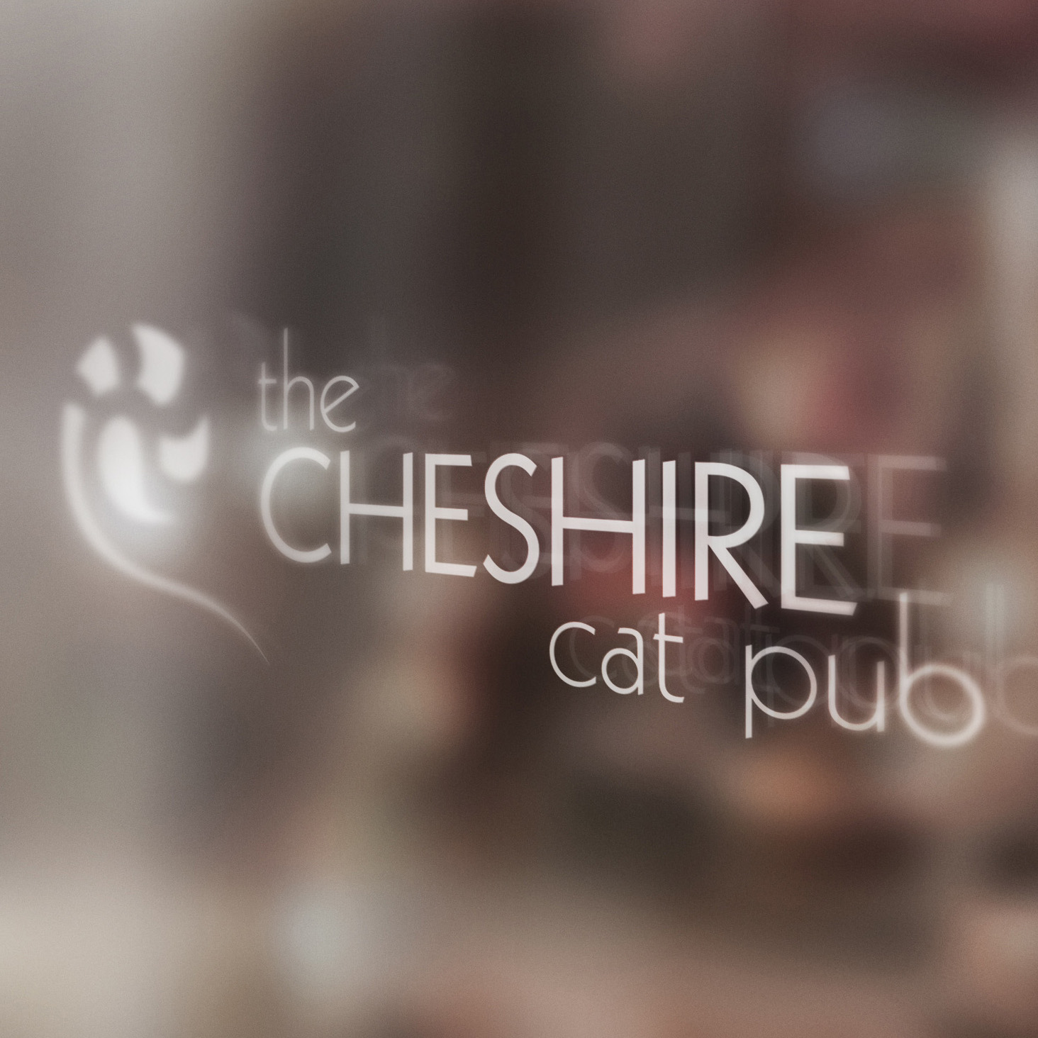 Cheshire Cat Pub Branding Artwork